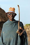 Africa, Ethiopia, Omo valley, a man of the Arbore (or Erbore) tribe