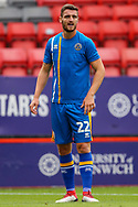 Shrewsbury Town Luke Waterfall (22) warming up during the EFL Sky Bet League 1 match between Charlton Athletic and Shrewsbury Town at The Valley, London, England on 11 August 2018.