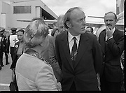 Vietnam Refugees Arrive .09/08/1979.08/09/1979.9th August 1979.Picture shows Minister of Foreign Affairs, Michael O'Kennedy waiting on the tarmac at Dublin Airport.