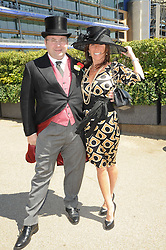 JONATHAN SHALIT his fiance KATRINA SEDLEY at the second day of the 2010 Royal Ascot Racing festival at Ascot Racecourse, Berkshire on 16th June 2010.