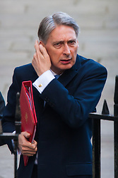 London, March 18th 2015. Members of the Cabinet gather at Downing street for their weekly meeting. PICTURED: Foreign Secretary Philip Hammond.