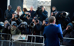 © London News Pictures. 29/11/2012. London, UK. Labour Party politician Chris Bryant MP holding a copy of the Leveson report in front of media outside  the QEII centre in London following Lord Justice Leveson's  announcement about his report into the culture and ethics of the UK's press. Photo credit: Ben Cawthra/LNP