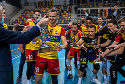 / in action during the last final league match between Draisma Dynamo vs. Amysoft Lycurgus on April 25, 2021 in Apeldoorn.