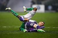 Dragos Grigore / LandryN Guemo - 28.02.2015 - Toulouse / Saint Etienne - 27eme journee de Ligue 1 -<br />Photo : Manuel Blondeau / Icon Sport