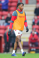 Charlton Athletic midfielder Joe Aribo (17) warms up prior to the EFL Sky Bet League 1 match between Charlton Athletic and Bristol Rovers at The Valley, London, England on 24 November 2018.