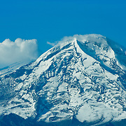 Mt. Redoubt Volcano in Lake Clark National Park, Alaska on the Ring of Fire around the Pacific Rim.
