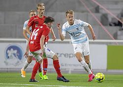 Andreas Smed (FC Helsingør) under kampen i 1. Division mellem FC Helsingør og Silkeborg IF den 11. september 2020 på Helsingør Stadion (Foto: Claus Birch).