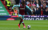 Edimilson Fernandes of West Ham .Premier league match, Stoke City v West Ham Utd at the Bet365 Stadium in Stoke on Trent, Staffs on Saturday 29th April 2017.<br /> pic by Bradley Collyer, Andrew Orchard sports photography.