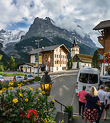 """Walk downhill from Eigergletscher train station (Jungfraujoch """"Top of Europe"""") to Alpiglen station, in the Grindelwald Valley, Canton of Bern, Switzerland, Europe. This image was stitched from multiple overlapping photos."""