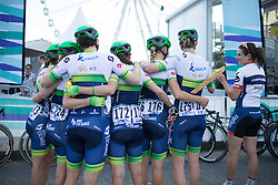 Loren Rowney (AUS) of Orica-AIS Cycling Team takes nutrition to a whole new level before the La Course, a 89 km road race in Paris on July 24, 2016 in France.