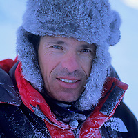 Mountaineer Greg Child bundles up against in sub-zero temperatures during a scouting trip to Canada's Baffin Island.