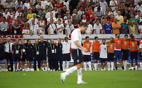 Photo: Chris Ratcliffe.<br /> England v Portugal. Quarter Finals, FIFA World Cup 2006. 01/07/2006.<br /> Frank Lampard walks to take his penalty.