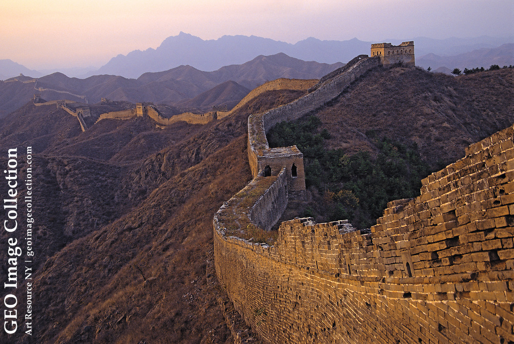 The Jinshanling Wall runs for about ten kilometers in Ruanping County, north of Beijing, and is the second-longest continuous section of Ming Wall in the east. Hebei, China