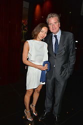 FLORENCE UCHIDA and FRANCOIS DELAGE at a dinner at The Bulgari Hotel, 171 Knightsbridge to celebrate The London Design Festival on 13th September 2016.
