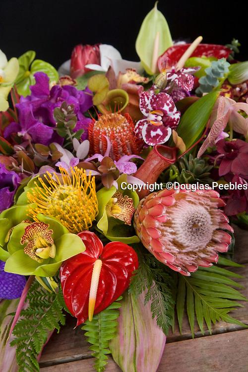 Tropical flower arrangement, Hawaii
