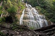 View of Bridal Veil Falls at Bridal Veil Falls Provincial Park in Chilliwack, British Columbia, Canada