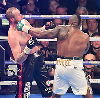 Boxing - 2017 _<br /> Dillian Whyte v Robert Helenius (WBC silver heavyweight) <br /> <br /> Dillian Whyte lands punches on Robert Helenius <br /> , at the Principality Stadium, Cardiff.<br /> <br /> COLORSPORT/WINSTON BYNORTH