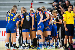 10-12-2014 CRO: EHF EK Nederland - Zweden, Varazdin<br /> Players of Sweden during handball match between Netherlands and Sweden at 11th EHF European Women's Handball Championship Hungary-Croatia 2014<br /> *** USE NETHERLANDS ONLY ***