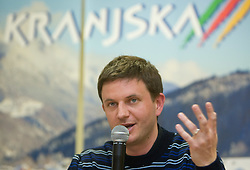 Tomi Trbovc of SZS at press conference during 1st day of FIS Ski Flying World Championships Planica 2010, on March 18, 2010, Planica, Slovenia.  (Photo by Vid Ponikvar / Sportida)