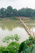 Morning scene along the Nam Khan River, Luang Prabang, Laos.