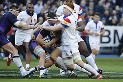 Furious maul during Rugby Guinness 6 Nations Tournament, France vs Scotland in Stade de France, St-Denis, France, on February 23rd, 2019. France won 27-10 Photo by Henri Szwarc/ABACAPRESS.COM