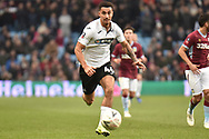 Swansea City striker Courtney Baker-Richardson (46) sprints forward with the ball during the The FA Cup 3rd round match between Aston Villa and Swansea City at Villa Park, Birmingham, England on 5 January 2019.