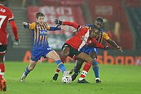 Football - 2020 / 2021 Emirates FA Cup - Round Three - Southampton vs. Shrewsbury Town - St Mary's Stadium<br /> <br /> Southampton's Dan N'Lundulu gets out muscled off the ball during the FA Cup tie at St Mary's Stadium Southampton<br /> <br /> COLORSPORT/SHAUN BOGGUST