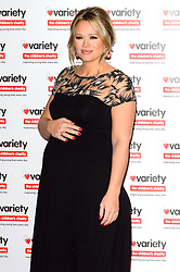 © Licensed to London News Pictures. 18/10/2016. Pregnant KIMBERLEY WALSH attend the Variety Showbiz Awards at the Hilton Park Lane Hotel. London, UK. Photo credit: Ray Tang/LNP