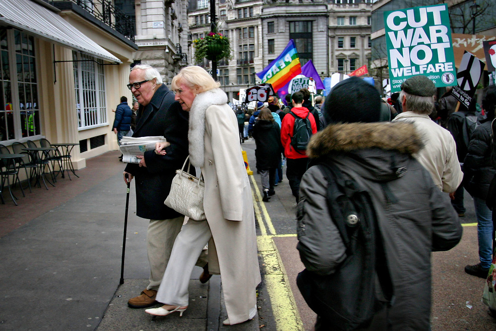 Thousands protest against Afghanistan war, London, UK, 2010.