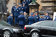Minister for Police and Emergency Services, The Hon. David Andrew Elliott at the funeral of Constable Aaron Vidal at St Mary's Cathedral. Constable Aaron Vidal, aged 28, was travelling home after completing his duties at Sydney City Police Area Command (Thursday 18 June 2020) when he was struck by a utility about 5.45pm and died at the scene. (Photo by Pete Dovgan/ Speed Media)