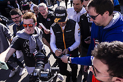 February 26, 2019 - Montmelo, Barcelona, Spain - Fernando Alonso fom Spain of Mclaren F1 Team - Renault MCL34 portrait during the Formula 1 2019 Pre-Season Tests at Circuit de Barcelona - Catalunya in Montmelo, Spain on February 26. (Credit Image: © Xavier Bonilla/NurPhoto via ZUMA Press)