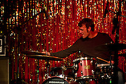 Drummer Robert Crawford performing with the Jack Silverman Ordeal at the Stone Fox in Nashville, TN