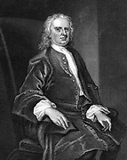 Isaac Newton (1642-1727) English mathematician and physicist. Engraving.