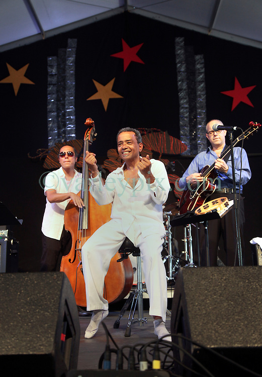 03 May 2015. New Orleans, Louisiana.<br /> The New Orleans Jazz and Heritage Festival. <br /> John Boutté plays the Jazz tent.<br /> Photo; Charlie Varley/varleypix.com