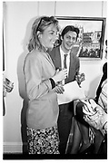 LUCINDA BENSON; MATHEW FREUD, Sophie Birdwood private view, Park Walk gallery, 10 January 1989,<br /> <br /> SUPPLIED FOR ONE-TIME USE ONLY> DO NOT ARCHIVE. © Copyright Photograph by Dafydd Jones 248 Clapham Rd.  London SW90PZ Tel 020 7820 0771 www.dafjones.com