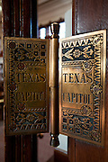 A door hinge in the Texas Capitol in Austin, Texas.. .photo by Mark Matson