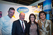 NO FEE PICTURES<br /> 23/1/16 Minister for Tourism Michael Ring and Maureen Ledwith, organiser of the Holiday World Show at the Trabolgan stand at the Holiday World Show at the RDS in Dublin. Picture: Arthur Carron