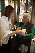 LOUISE OLSEN; ANTONIO CARLUCCIO, Dinosaur Designs launch of their first European store in London. 35 Gt. Windmill St. 18 September 2014