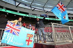 March 9, 2019 - Vancouver, BC, U.S. - VANCOUVER, BC - MARCH 09:  Fiji fans cheer as the day begins during day 1 of the 2019 Canada Sevens Rugby Tournament on March 9, 2019 at BC Place in Vancouver, British Columbia, Canada. (Photo by Devin Manky/Icon Sportswire) (Credit Image: © Devin Manky/Icon SMI via ZUMA Press)