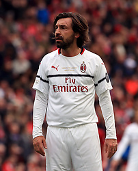 Milan's Andrea Pirlo during the Legends match at Anfield Stadium, Liverpool.
