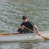 Ben Wiltsie paddles a canoe on Lake of the Woods, Ontario, Canada.