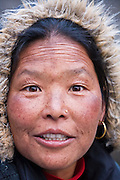 Gurung lodge owner in Deorali, along the Annapurna Sanctuary Trek, Himalaya Mountains, Nepal.