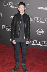 December 10, 2016 - Los Angeles, California, United States - December 10th 2016 - Los Angeles California USA - Actor MASON COOK   at the World Premiere for ''Rogue One Star Wars'' held at the Pantages Theater, Hollywood, Los Angeles  CA (Credit Image: © Paul Fenton via ZUMA Wire)