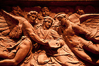 Washington DC, National Gallery. Close-up of an angel frieze.