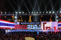 BANGKOK, Sept. 12, 2016 (Xinhua) -- Photo taken on Sept. 11, 2016 shows a public event held by the Anti-Corruption Organization of Thailand (ACT) to mark the National Anti-Corruption Day at the Sanam Luang square in Bangkok, Thailand. Thailand observes the National Anti-Corruption Day annually on September 6. (Xinhua/Rachen Sageamsak).****Authorized by ytfs* (Credit Image: © Rachen Sageamsak/Xinhua via ZUMA Wire)