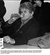 Poet, Gregory Corso at the Gagosian Gallery. New York. January 1993. Film 9355f30<br />© Copyright Photograph by Dafydd Jones<br />66 Stockwell Park Rd. London SW9 0DA<br />Tel 0171 733 0108