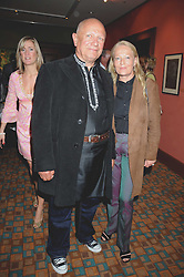 Actor STEVEN BERKOFF and CLARA FISCHER at a private view of work by Sacha Newley entitled 'Blessed Curse' in association with the Catto Gallery held at the Arts Club, Dover Street, London W1 on 2nd July 2008.<br /><br />NON EXCLUSIVE - WORLD RIGHTS