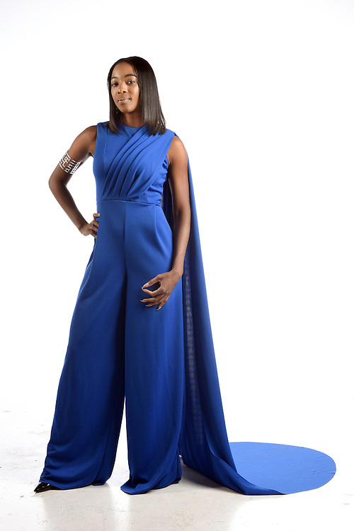 Hartford, CT, 8/25/2016<br /> Fashion by designer Matthew Reisman of Middletown modeled by Tiffany Banks of Bloomfield.<br /> Photo by MARA LAVITT/ Special to the Courant.