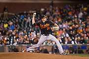 Baltimore Orioles relief pitcher Brad Brach (35) delivers a pitch against the San Francisco Giants at AT&T Park in San Francisco, Calif., on August 12, 2016. (Stan Olszewski/Special to S.F. Examiner)