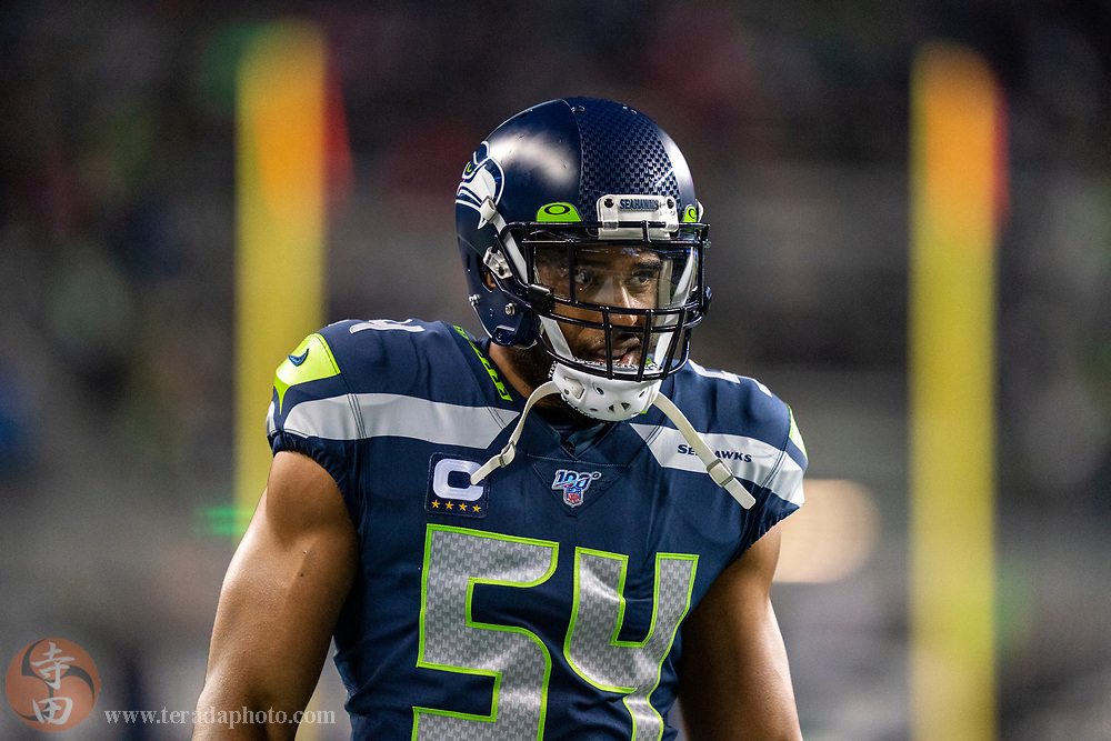 December 29, 2019; Seattle, Washington, USA; Seattle Seahawks middle linebacker Bobby Wagner (54) before the game against the San Francisco 49ers at CenturyLink Field.